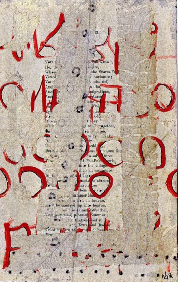 Nancy Bell Scott. asemic page