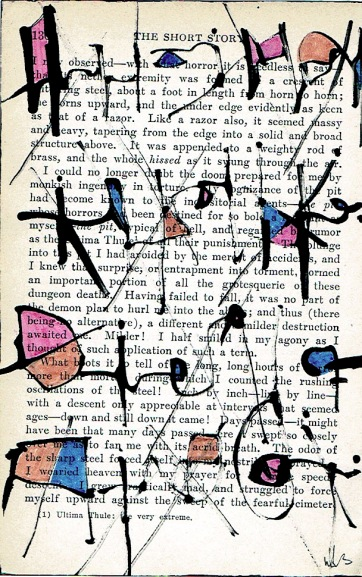 Nancy Bell Scott. asemic writing, page 130