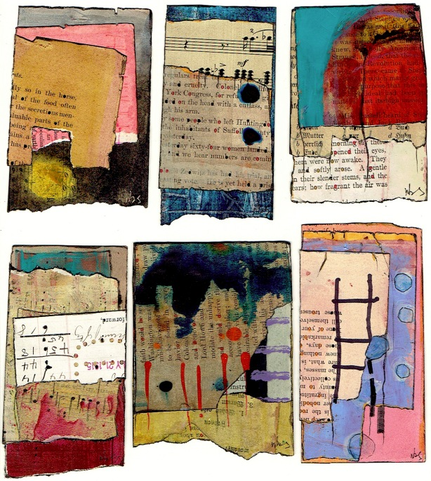 Nancy Bell Scott. 3-scrap collages 1.
