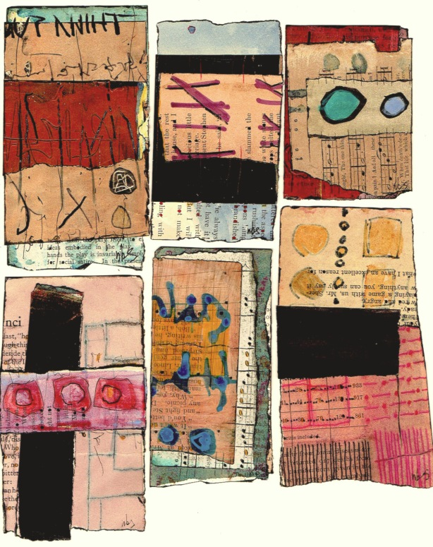 Nancy Bell Scott. 3-scrap collages 3.