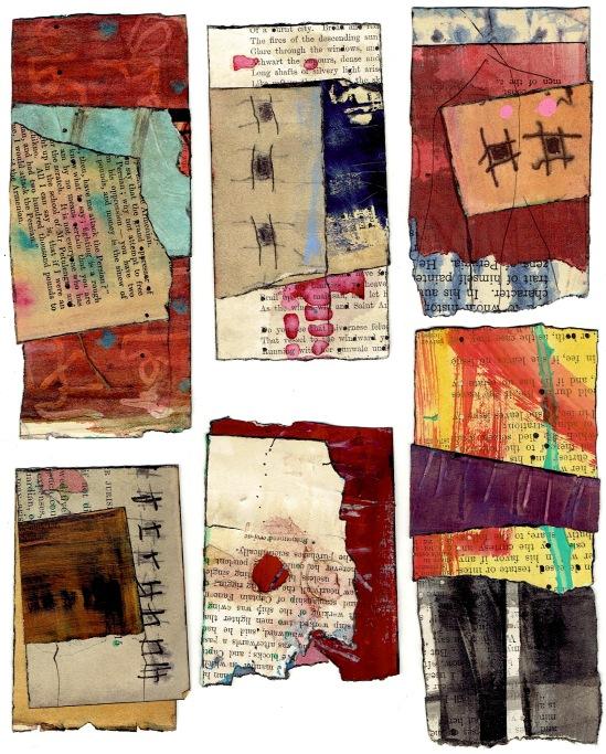 Nancy Bell Scott. 3-scrap collages, January 2020 1