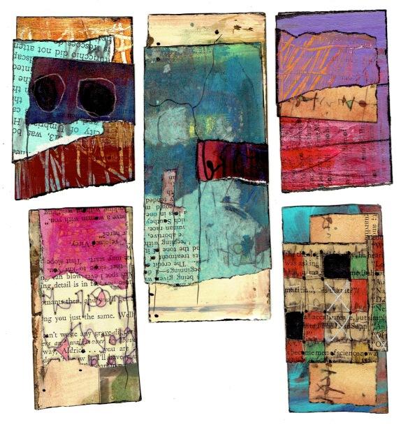 Nancy Bell Scott. 3-scrap collages, January 2020 2