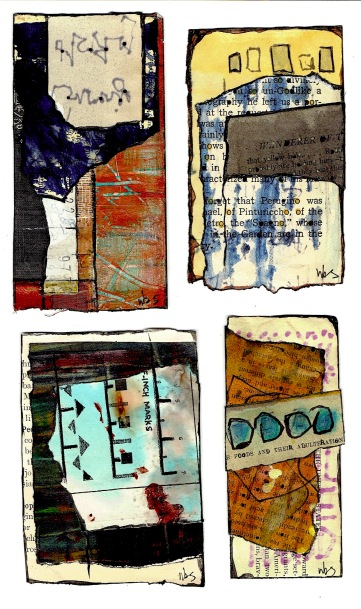 Nancy Bell Scott. 3-scrap collages : April
